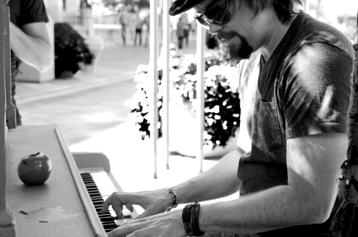 Jarrod on Street Piano